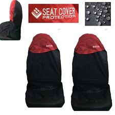 2 NYLON IMPERMEABILE ROSSO Car Seat Covers per FORD FOCUS FUSION GALAXY IKON S-MAX