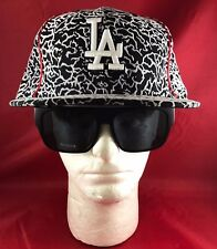 New Era 59Fifty MLB LA Dodgers Fitted Hat Black & White&Red Side MJ Style