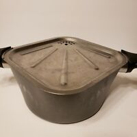 """Vintage Aluminum Wear Ever Air Square Sauce Pan Pot With Vented Lid 9"""" Cookware"""