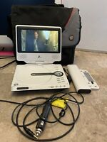 "Zenith Portable DVD Player DVP615 7"" Bundle Car & Home Adapter Battery  Case"