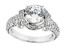 Natural 1.20Ct Round Cut Diamond Pave Engagement Ring Solid 950 Platinum G SI1