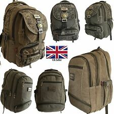 Mens&Boys Canvas Backpack Sainteagle HP power Rucksack For School College Travel
