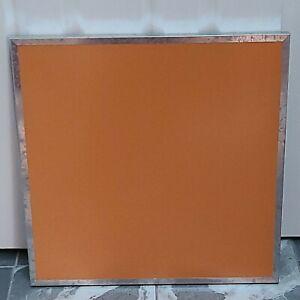 "Pottery Barn Teen Dry Erase Board Metal Frame Orange NEW  20"" Square heavy duty"