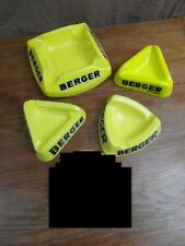 lot BERGER x 4 CENDRIER vintage 60-70's TOUS DIFFERENTS ASHTRAY ASBAAK