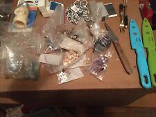 New listing junk drawer lot. junk jewelry, stones ,knives etc