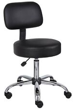 Chair Medical Stool Dental Assistant Wheeled Office Seat Backrest Wheels No Arms