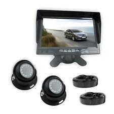 Rear View Backup Camera & Monitor System 2 Waterproof Angle  Night Vision Cams