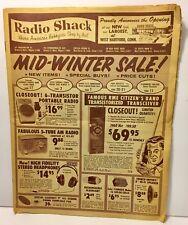 1961 Radio Shack Mid- Winter Sale! catalog newspaper format vintage electronics