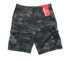 NWT Unionbay Men's Lightweight Cargo Shorts Black Camo, Size 42