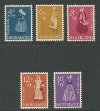 Netherlands 1958 Regional Custumes semipostal--Attractive Topical (B321-25) MH