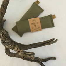 KHAKI Linseed Eye Pillow 100%Cotton Lined Yoga ChooseScent Relax Flaxseed