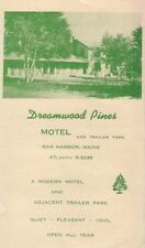 Bar Harbor Maine ME Dreamwood Pines Motel Old Brochure