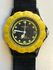 Working Ladies Black (With Rotating Yellow Bezel) Gruen Diver Style Watch  AA