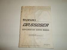 1994 Suzuki DR650SER Supplementary Service Manual WATER DAMAGED FACTORY OEM DEAL