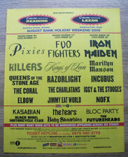 READING 2005 - Pixies Foo Fighters Iron Maiden v4 MUSIC NME ADVERT 12 X 10 in