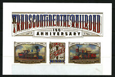 Transcontinental Railroad 150 years mint strip of three 2019 USA w/sheet header