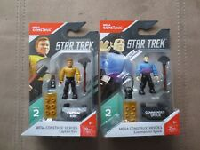 Mega Construx Heroes Series 2 Star Trek Captain Kirk and Commander Spock