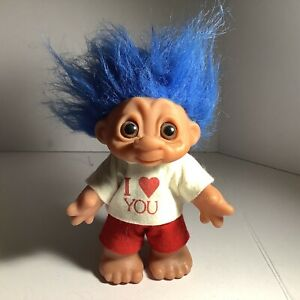 """vintage 1988  I love you   D.A.M. 7"""" Troll Made in Denmark loose"""