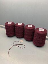 800G 2/8.4NM SHETLAND LAMBSWOOL YARN DARK WINE RED PRODUCED IN SHETLAND LIMITED