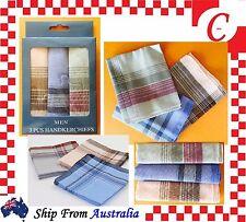 6PC Mens HANDKERCHIEFS 100%Pure Cotton Pocket Square Hanky Handkerchief New Bulk