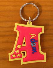 Rubber Name Key Fobs Key Rings ADAM - A Shape