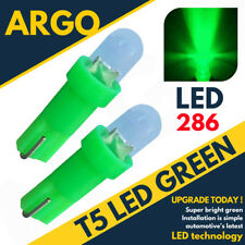 Super Bright T5 286 LED Xenón Verde Tablero Bombillas Velocímetro Cuña Luces 12v