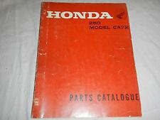 1960-1966 HONDA CA72 CA 72 250 PARTS CATALOG SHOP SERVICE REPAIR MANUAL