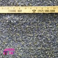Home Decor Blue Carpety Heavy Upholstery Fabric by the Yard
