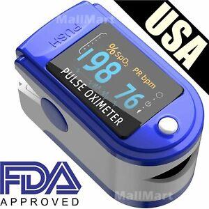 Pulse Oximeter Fingertip Blood Oxygen SpO2 Monitor PR PI heart rate FDA Oximetro