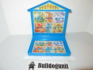 2004 Guess Where Board Game Blue Folding House Parts Only Who Hasbro
