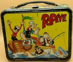 Vintage 1964 Metal POPEYE Lunch Box King Features Syndicate Collectible
