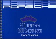 PORSCHE 911 OWNERS MANUAL 1987 BOOK CARRERA TURBO HANDBOOK OWNER GUIDE