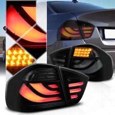 Black/Smoke *Tron LED Bar* Tail Light Brake Lamp for 05-08 E90/E91 3-Series 4Dr