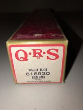 QRS Player Piano Word Roll 616930 Ramona Waltz Ted Baxter