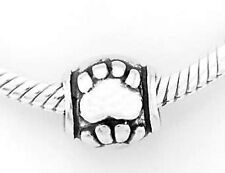 STERLING SILVER 925 PAWS BEAD FIT ALL EUROPEAN BRACELET