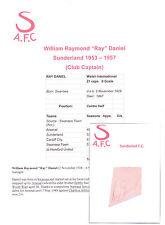RAY DANIEL Sunderland 1953-1957 rara mano originale firmato TAGLIO / CARD
