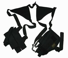 Black Double Shoulder Gun Holster W/ Clip Pouch BB Airsoft Handgun Pistol ST25BA