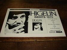 JACQUES HIGELIN - PETITE PUBLICITE INEDITS 1970 !!!!