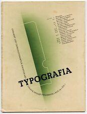 1937 Czech Advertising Design TYPOGRAFIA Avant-Garde Typography + Printing Journ