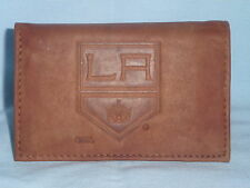 LOS ANGELES KINGS    Leather TriFold Wallet    NEW!   brown2