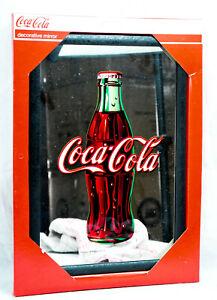 """Coca Cola, Werbespiegel in Kunststoffrahmen schwarz """"Bottle"""""""