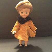 """Vintage 11"""" Prodex Doll No.1111 Rubber faced doll with gorgeous outfit and shoes"""