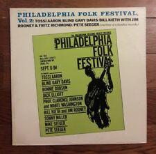 PHILADELPHIA FOLK FESTIVAL Vol 2 LP Blind Gary Davis Prestige MONO Seeger 1962