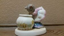 Kitty Cucumber Kitty Cat Looking into Fish Bowl Figurine Schmid 1986