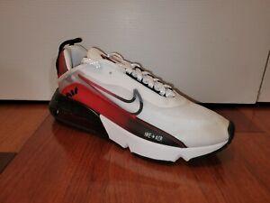 Nike Air Max 2090 White Black University Red Men's SZ 10 Sneakers CZ8127-100