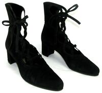 STEPHANE KELIAN Chaussures low boots vintage cuir noir 5 38 TRES BON ETAT