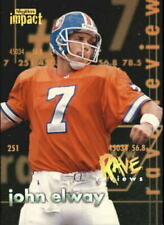 1997 SkyBox Impact Rave Reviews Denver Broncos Football Card #2 John Elway