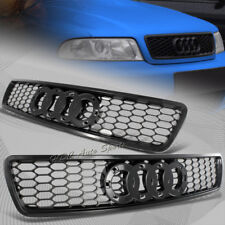 For Audi A4 S4 B5 Black ABS Sport Mesh S-line RS4 Style Front Hood Grille Grill