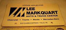 Advertising Dealership Cardboard License Plate Mercedes Benz Chippewa Falls WI