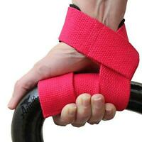 Neoprene Padded Weight Lifting Straps Gloves Training Gym Hand Bar Wrist Support